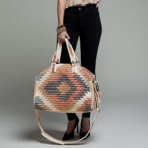 NWT Aztec Southwestern Weekender Tote Duffle Bag